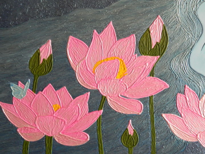 Magic dreams surreal lotus flower painting liza wheeler wheeler liza izmirmasajfo