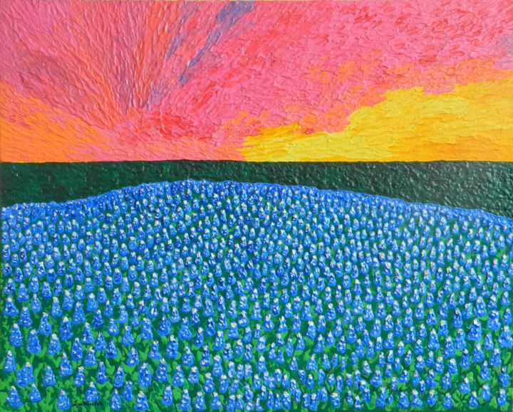"""Painting titled """""""" Hill Country Prid…"""" by Liza Wheeler, Original Art, Acrylic"""