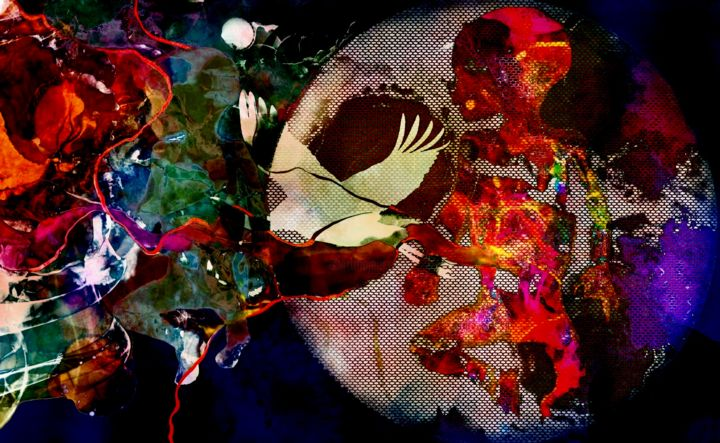 """Digital Arts titled """"HOW FRAGILE THEY ARE"""" by Lize Krüger, Original Art, Digital Painting"""
