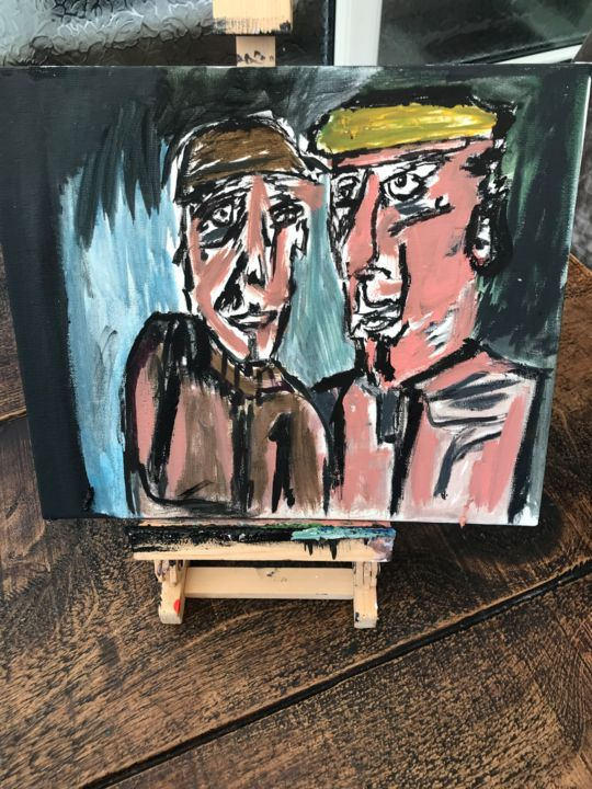 """Painting titled """"Northern blokes"""" by John Hennessey, Original Art, Oil"""