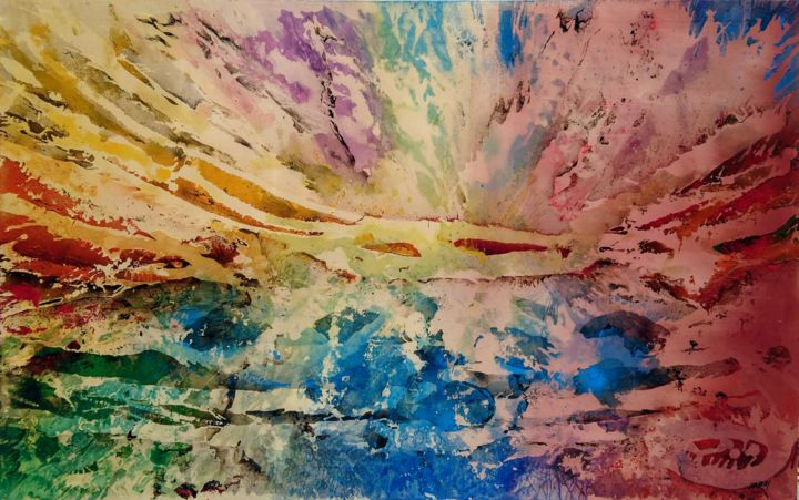 California soft - Painting,  160x100x2 cm ©2018 by Joan Llaverias -                                                        Abstract Art, Canvas, Abstract Art