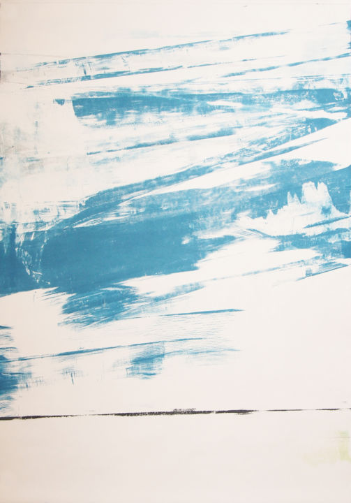 Printmaking, monotype, abstract, artwork by Ln Le Cheviller