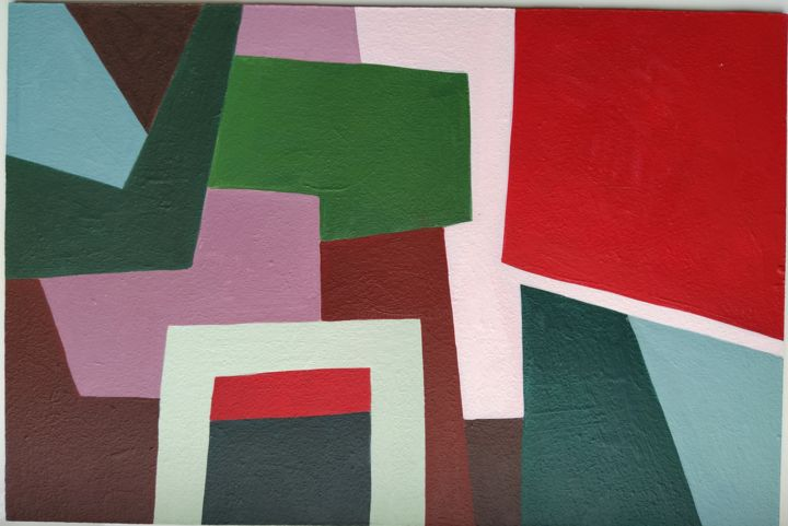 """Painting titled """"Study of forms and…"""" by Mariia Demidova, Original Art, Acrylic Mounted on Wood Panel"""