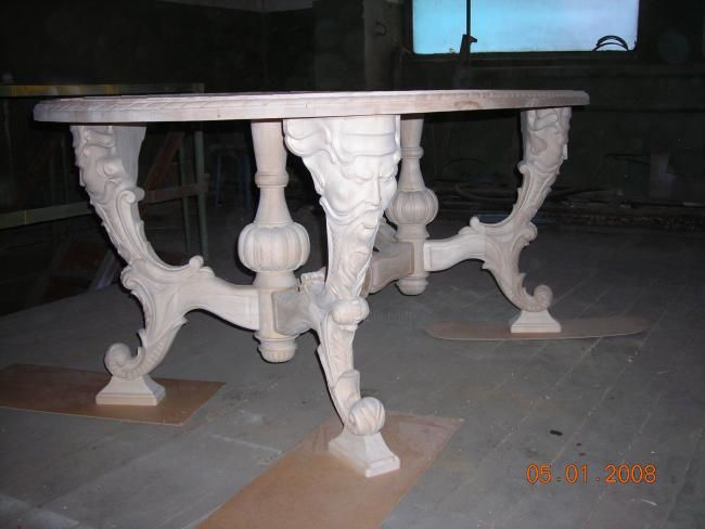 Стол резной - Design ©2007 by Виктор Логвинов -            Table of carved