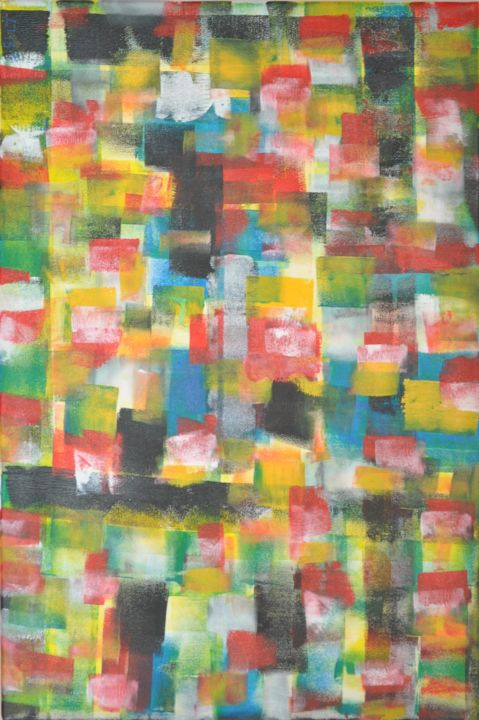 Les Amis - Painting, ©2014 by loic larguier -                                                                                                                                                                          Abstract, abstract-570, Abstract Art