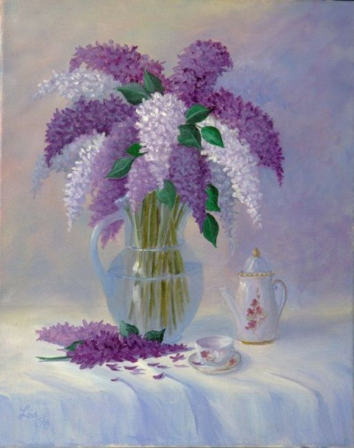 Lilacs And Vase Lois Smith