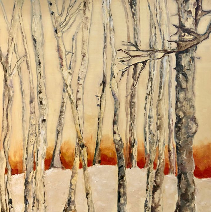 """Painting titled """"Fire and Ice"""" by Laurence D Antonio Lignel, Original Art,"""
