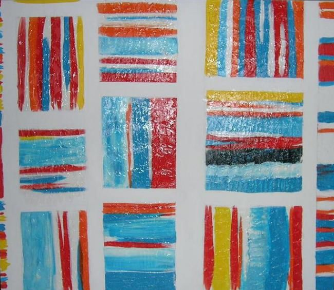 Sans titre - Painting,  89x77 cm ©2007 by Helene -                        Abstract Art