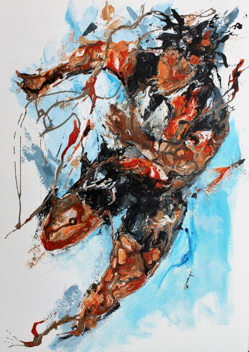 Sport Painting, acrylic, figurative, artwork by Jean-Luc Lopez