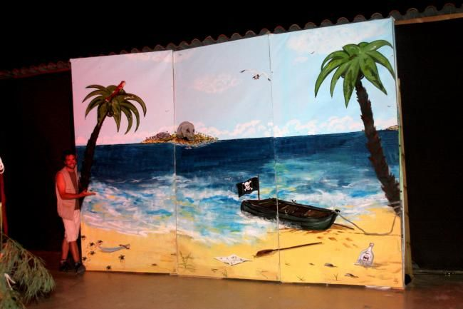 Decor De Spectacle Pirate Des Caraibes Pintura Por Loran Artmajeur