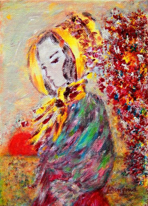 Fragrance Of Red Flowers Painting 2017 By Lorenzina B Impressionism