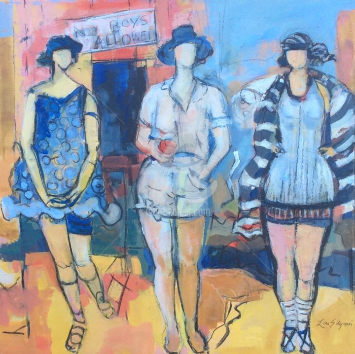 No Boys Allowed - Painting ©2015 by Lori Solymosi -