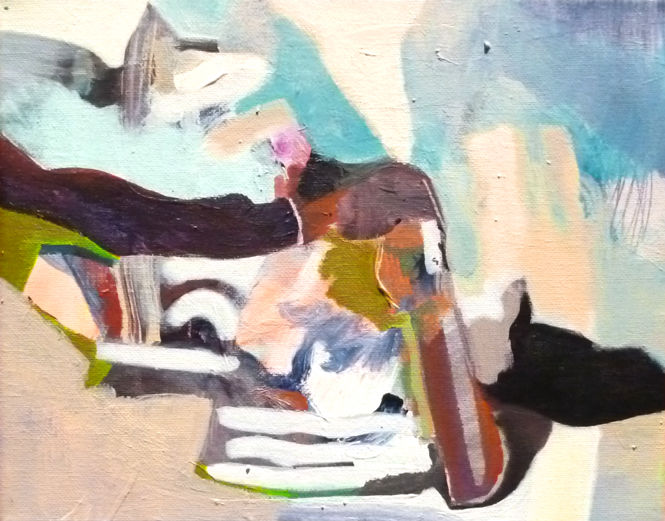 untitled (STM) - Painting,  30x40 cm ©2018 by Lothar Neumann -                        Contemporary painting