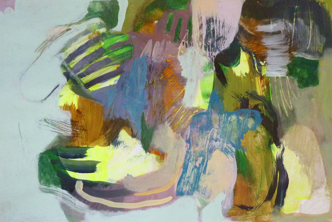 untitled (SD) - Painting,  30.5x45 cm ©2017 by Lothar Neumann -