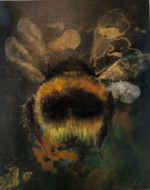 """Painting titled """"Bumble Bee"""" by Laurent Coukan, Original Art, Acrylic"""