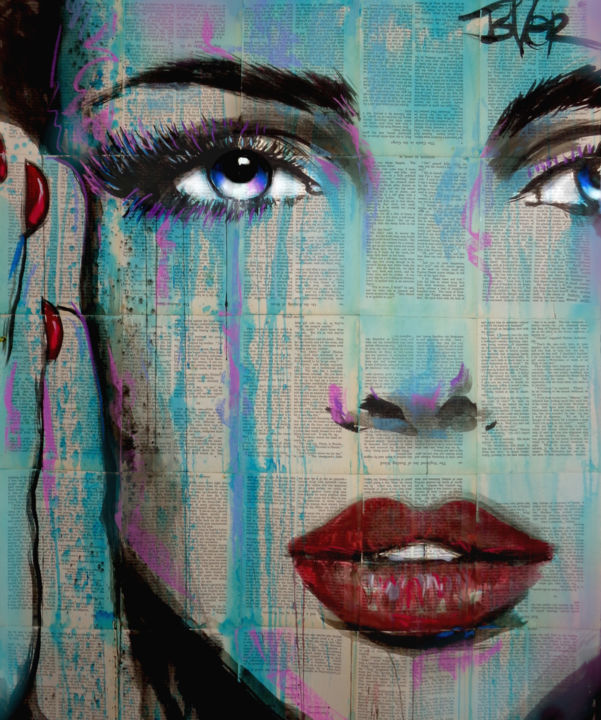 """Drawing titled """"NEED"""" by Loui Jover, Original Art, Ink"""