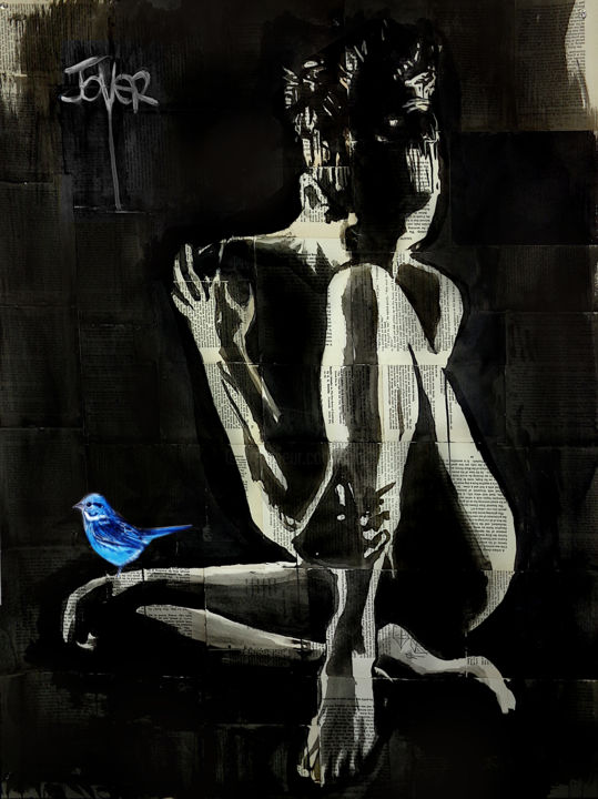 """Drawing titled """"TRANQUILITIES HOPE"""" by Loui Jover, Original Art, Ink"""