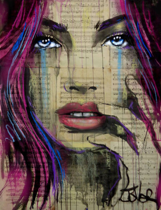 """Drawing titled """"the thorn"""" by Loui Jover, Original Art, Ink"""