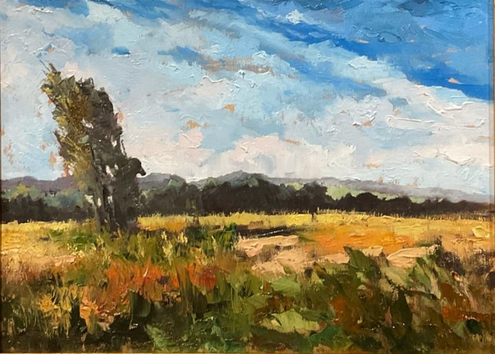 """Painting titled """"A sunny day. Chaves…"""" by Aluizio Loureiro, Original Art, Oil"""