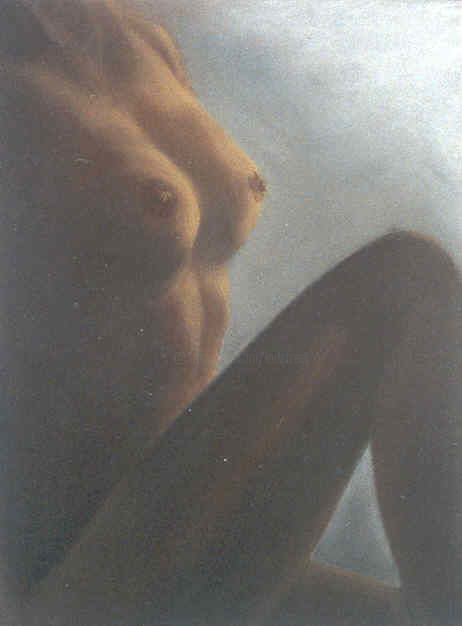 Aubade - Painting,  19.7x15.8 in, ©2010 by Lou Streel -                                                                                                                                                                                                                          Classicism, classicism-933, Nude, Nus