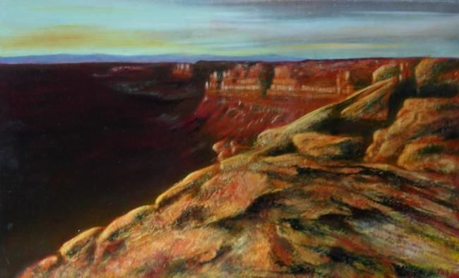 Colorado - Painting,  75x45 cm ©2008 by Lou Streel -                            Classicism, Paysage