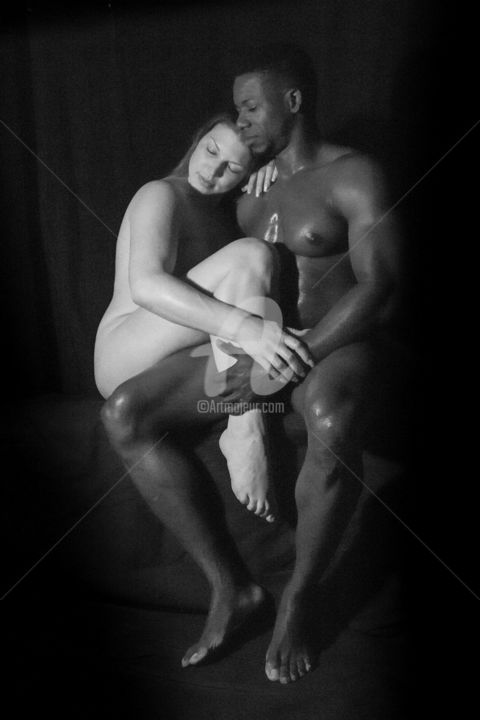 Boundless Love  -- 1st Place AWARD - Photography, ©2017 by Lou Zucchi -                                                                                                                                                                                                                          Figurative, figurative-594, Love / Romance, Black and White
