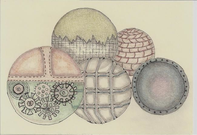 Colorful Christmas Ornaments Drawings.Merry Christmas Drawing By Kip Franks Artmajeur