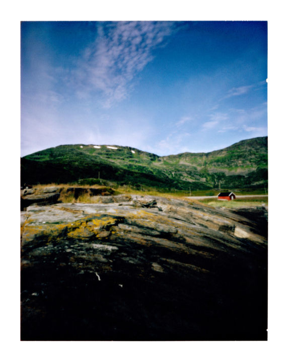 norway - e69 - nordmannset #01 - Photography,  19.7x15.8 in, ©2014 by Luca Baldassari -                                                                                                                                                                                                                                                                                                                                                                                                                                                                                                                                                                                                                  Places, Nature, Landscape, Travel, norway, e69, nordmannset, montagna, mountain, norvegia, pinhole, foro stenopeico, Limited Edition