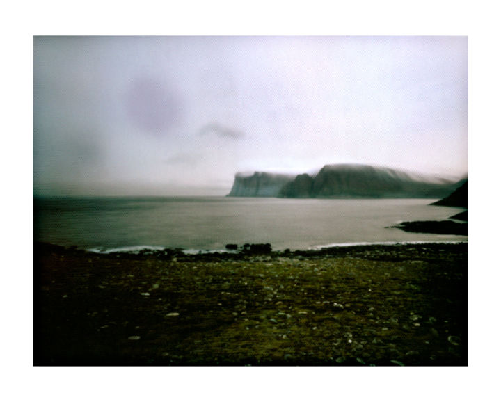 norway - nordkapp #02 - Photography,  15.8x19.7 in, ©2015 by Luca Baldassari -                                                                                                                                                                                                                                                                                                                                                                                                                                                                                                                                                                                                                                                                                                          Water, Places, Nature, Landscape, Travel, norway, nordkapp, norway  nordkapp, capo nord, norvegia, sea, mare, pinhole, foro stenopeico, Limited Edition
