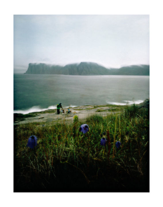 norway - nordkapp #03 - Photography,  19.7x15.8 in, ©2014 by Luca Baldassari -                                                                                                                                                                                                                                                                                                                                                                                                                                                                                                                                                                                                                                                                                                                                                      Places, Nature, Landscape, Travel, norway nordkapp, norway, nordkapp, capo nord, norvegia, mare, sea, amici, friends, pinhole, foro stenopeico, Limited Edition
