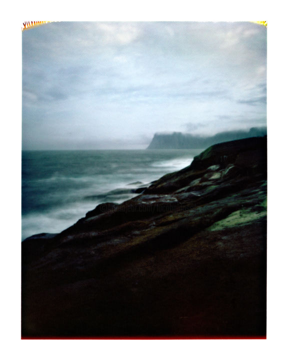 norway - knivskjellodden #01 - Photography,  19.7x15.8 in, ©2014 by Luca Baldassari -                                                                                                                                                                                                                                                                                                                                                                                                                                                                                                                                                                                                                                                              Water, Nature, Landscape, Outer Space, Travel, norway  knivskjellodden, norway, knivskjellodden, sea, mare, norvegia, pinhole, foro stenopeico, Limited Edition