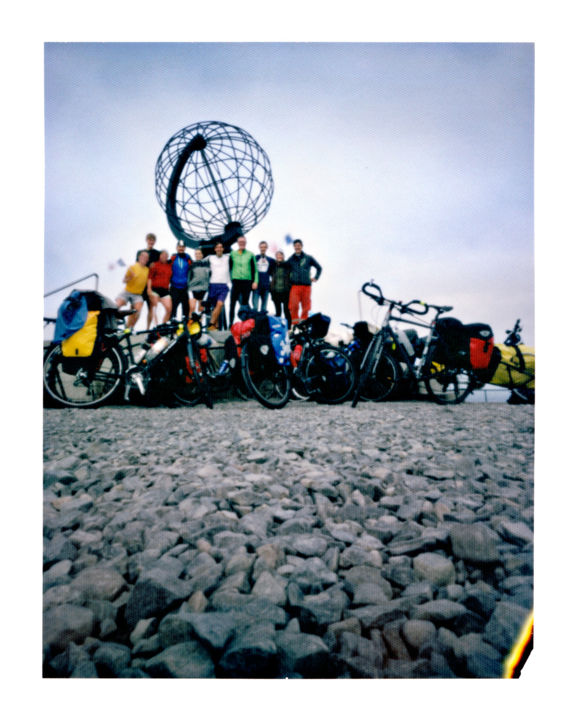 norway - nordkapp - globe - fantastic group - Photography,  50x40 cm ©2014 by Luca Baldassari -