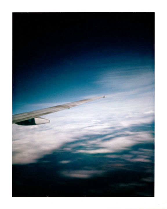 norway - sea and clouds - Photography,  19.7x15.8 in, ©2014 by Luca Baldassari -                                                                                                                                                                                                                                                                                                                                                                                                                                                                                                                                                                                                                                                                                                          Abstract Art, Airplane, Landscape, Travel, norway, sea and clouds, sea, clouds, nuvole, mare, movimentazioni, norvegia, pinhole, foro stenopeico, Limited Edition