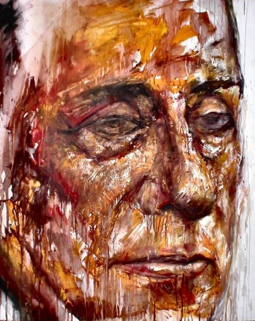 Painting, oil, abstract, artwork by Luca Palazzi