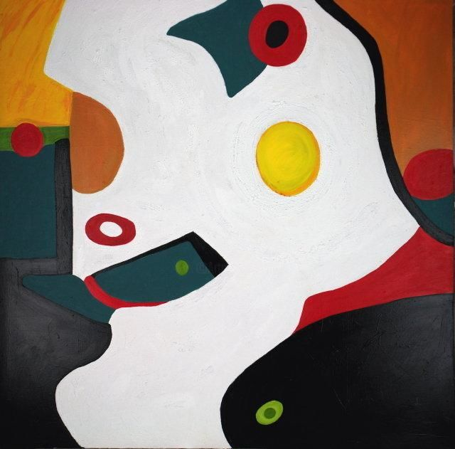 Asia' - Painting,  78x78 in, ©1998 by Stephen Lucas -