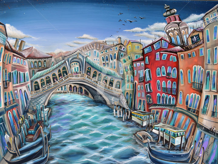 """Painting titled """"Venice"""" by Luccho, Original Art, Acrylic"""