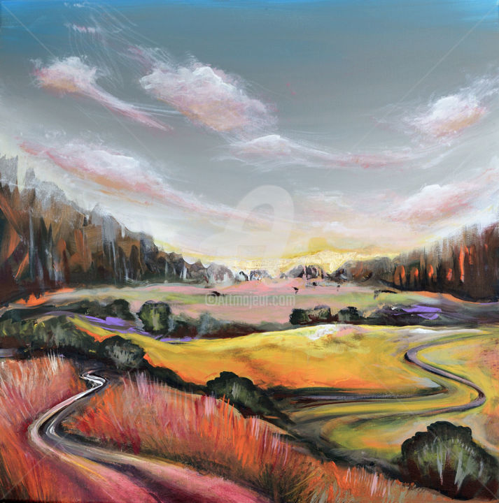 """Painting titled """"Sunrise"""" by Luccho, Original Art, Acrylic"""