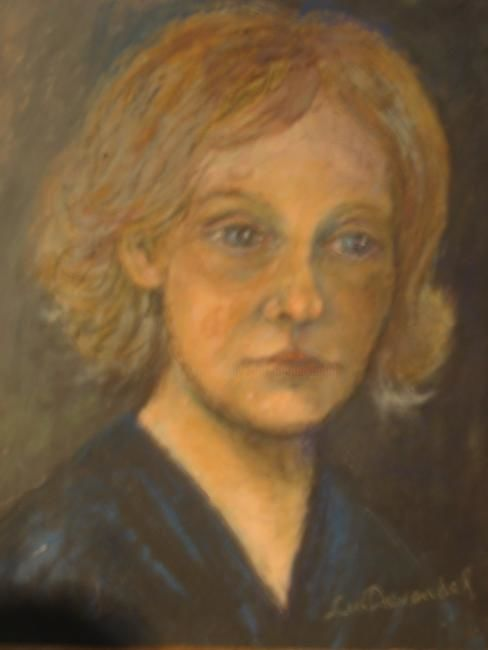 Nellie Beens - Painting,  19.7x15.8x0.2 in, ©1990 by Luc Devondel -