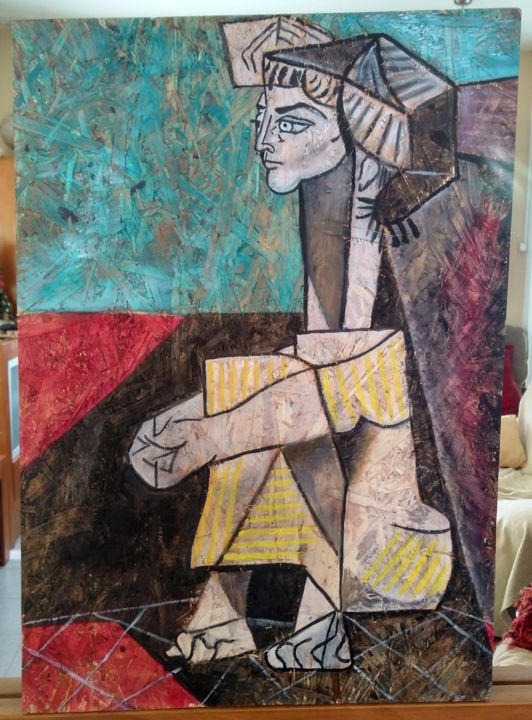 """Painting titled """"Vazio"""" by Luciana Togeiro, Original Art, Oil"""