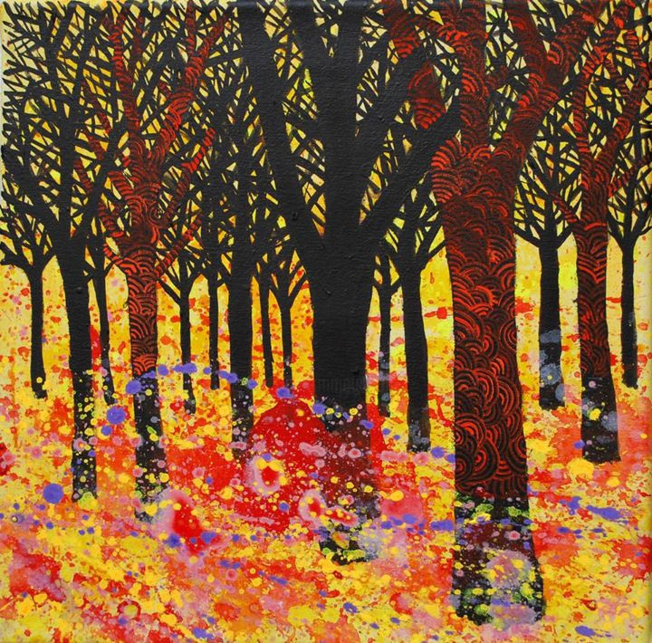 Bosque 2 (Forest 2) - ©  art, arte, arte contemporáneo, luciano giusti, surrealista, metafísico, pintura, pinturas, acrilic on canvas, acrilico sobre tela, painting, contemporary art; paintings, ; Buenos Aires, figurativo, surreal, surrealism Online Artworks