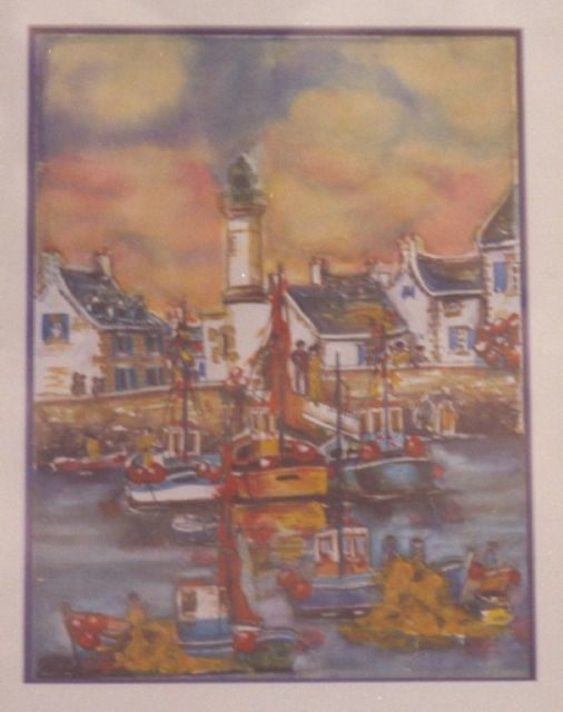 L2 - Port en Bretagne - Painting ©2009 by Lucien Dufour -