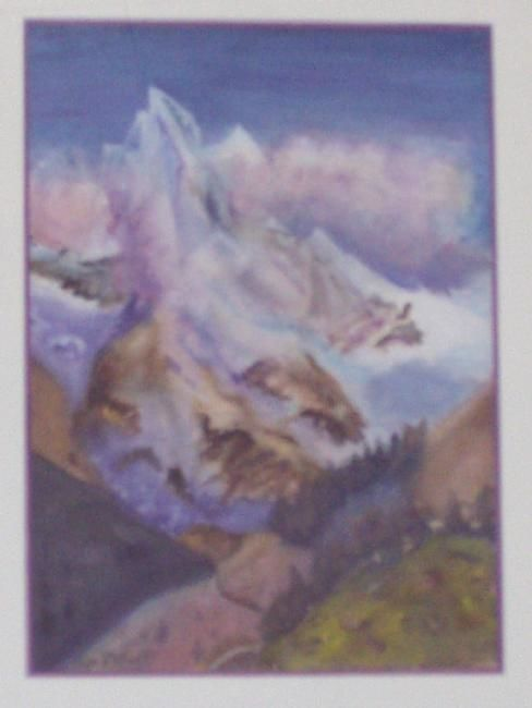 I7 - Montagne Alpine - Painting ©2003 by Lucien Dufour -