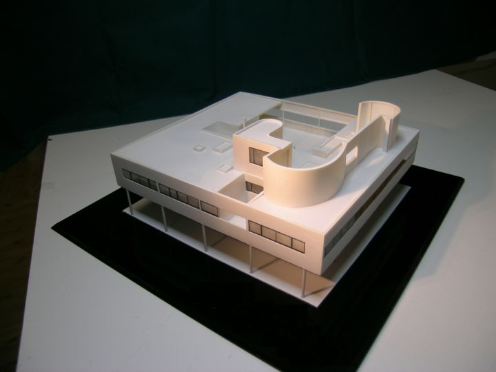 Favori VILLA SAVOYE by Le Corbusier (Historical Architectural Models) DR35