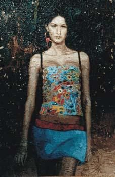 """Painting titled """"Donna in Dolce & Ga…"""" by Lucio Greco, Original Art,"""