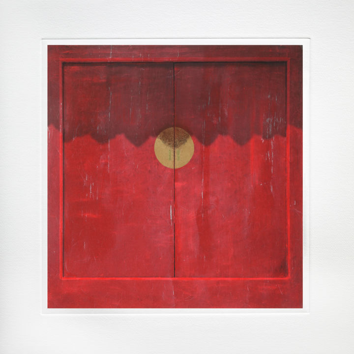 """Photography titled """"Red Door"""" by Luc Janssens, Original Art, Digital Photography"""