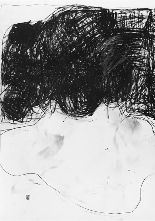 PORTRAIT - Drawing,  23.6x16.5 in, ©2019 by Luc PIERRE -                                                                                                                                                                                                                                                                                                                                                                                                                                                                                                                                                                                                                                                                                                                              Abstract, abstract-570, Abstract Art, Colors, Light, Black and White, Portraits, Abstract, charcoal, paper, papier, charbon, noiretblanc, blackandwhite, abstrait