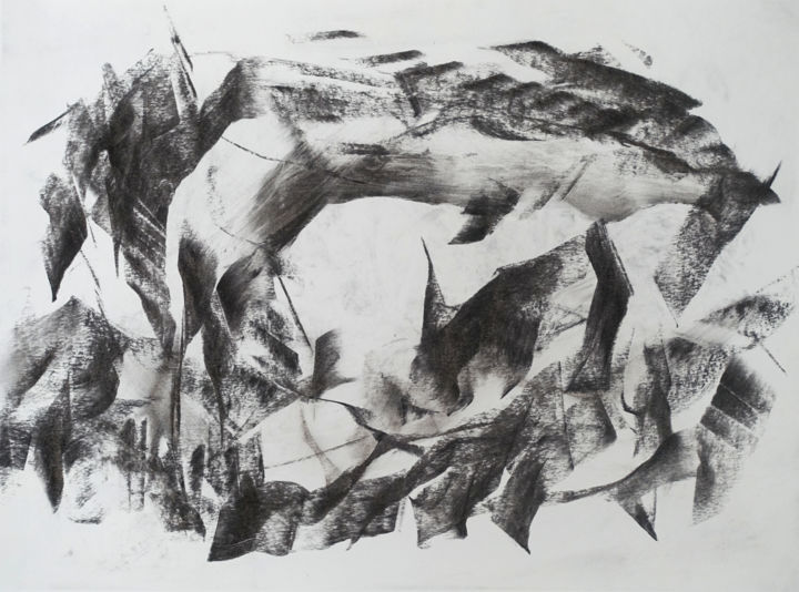 """Drawing titled """"#17221"""" by Ludovic Michaux (Ludom), Original Art, Charcoal"""