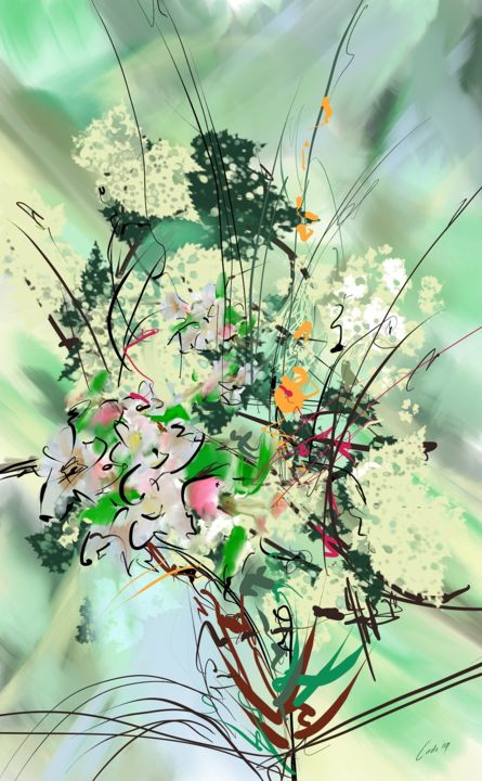 bouquet of spring - Digital Arts ©2019 by Ludo Sevcik -                                                            Abstract Art, Other, Abstract Art, digital, bouquet, spring