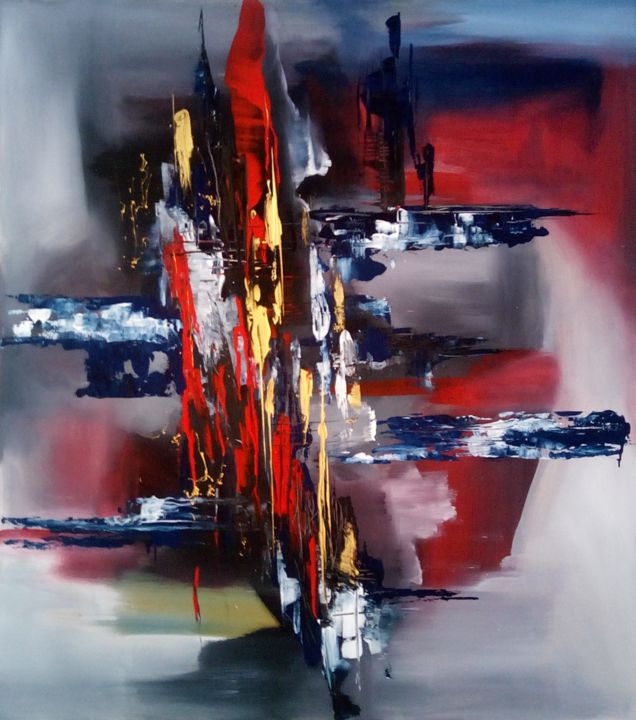 """Painting titled """"Transition trough d…"""" by Ludo Sevcik, Original Art, Acrylic"""
