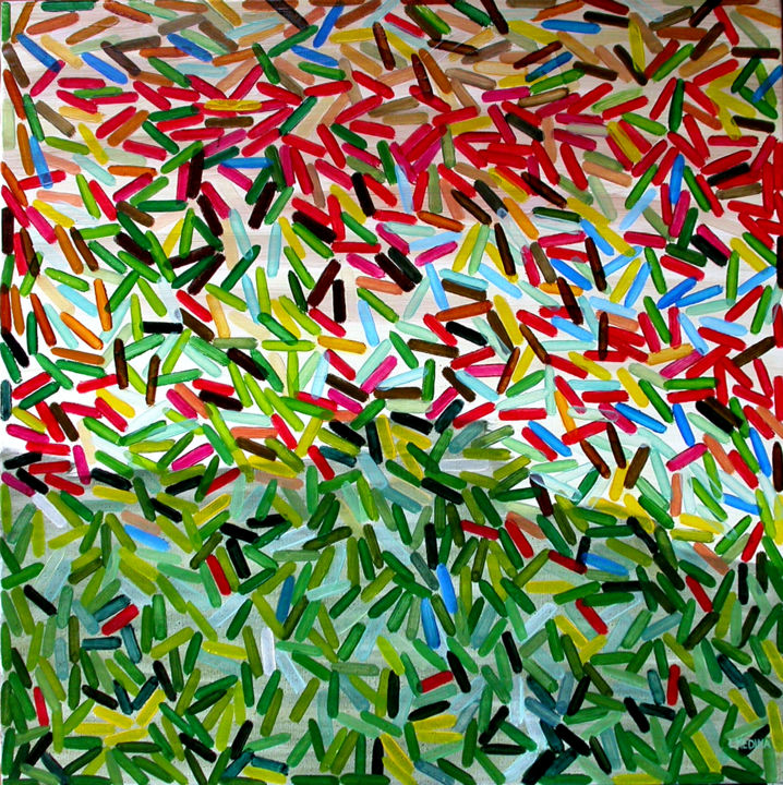 Painting, oil, abstract, artwork by Luis Medina